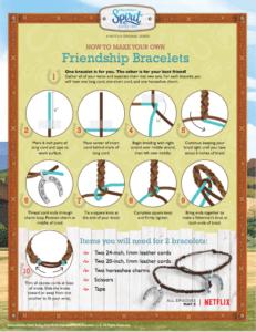 Spirit Riding Free Friendship Bracelet Craft + Reader Giveaway