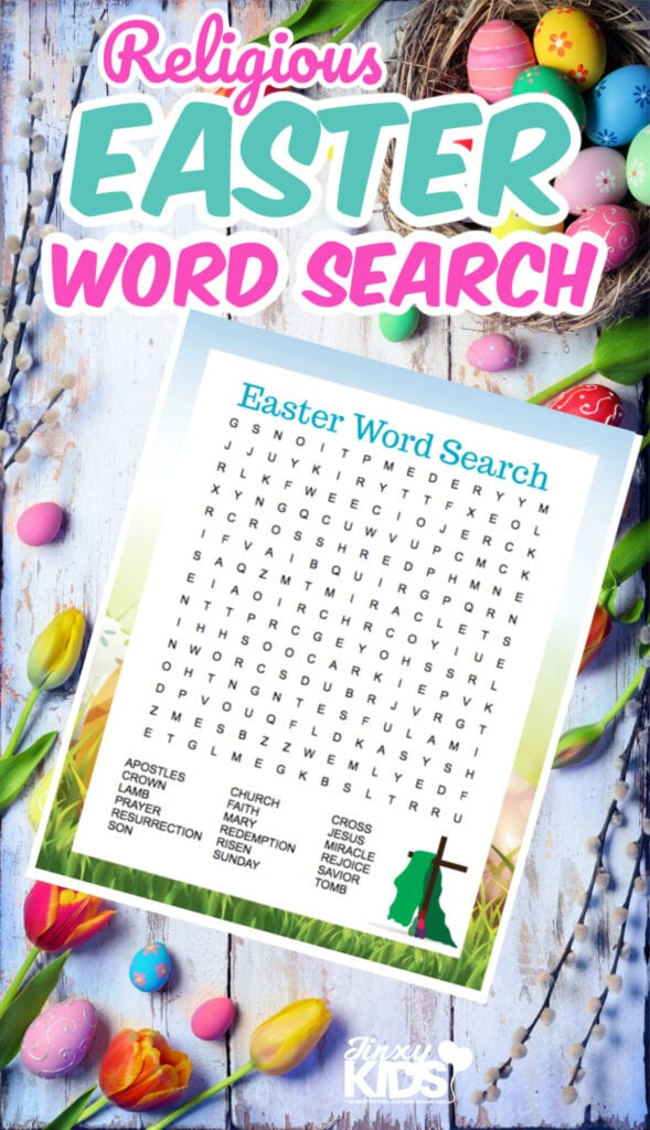 FREE PRINTABLE RELIGIOUS EASTER WORD SEARCH PUZZLE
