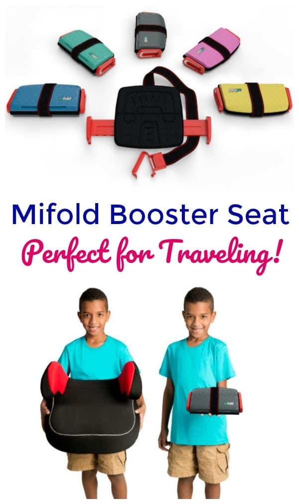 The MiFold Booster Seat is perfect for traveling or every day use!