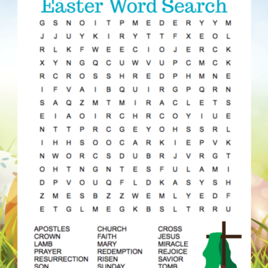 Religious Easter Word Search Puzzle