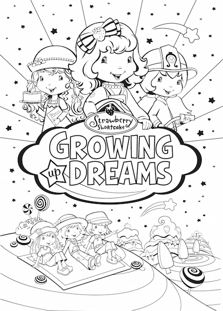 Free Printable Strawberry Shortcake Coloring Sheet Growing Up