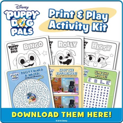 Puppy Dog Pals Printable Activity Sheets