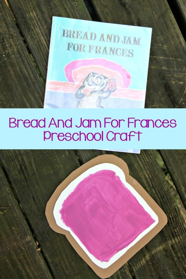 Bread And Jam For Frances Book Preschool Craft pin