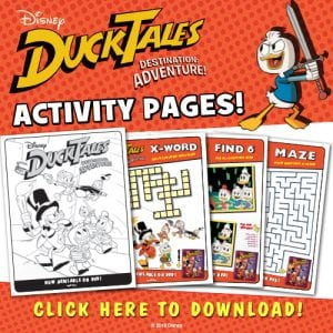 DuckTales Printable Activity Sheets