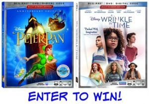 Own Peter Pan and A Wrinkle in Time on Blu-ray June 5 + Reader Giveaway