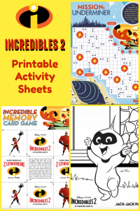 INCREDIBLES 2 Printable Activity Sheets: Coloring Pages, Recipes and More