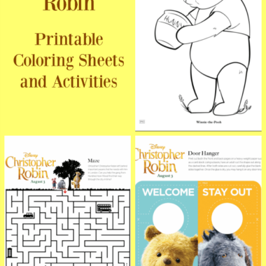 Christopher Robin Printable Coloring Sheets and Activities