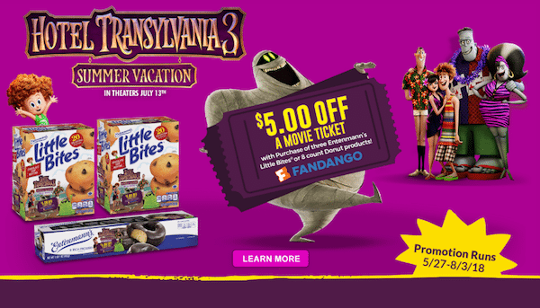 Hotel Transylvania Movie Ticket Offer Entenmanns