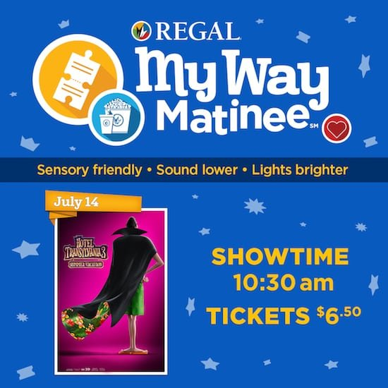 regal sensory friendly hotel transylvania 3