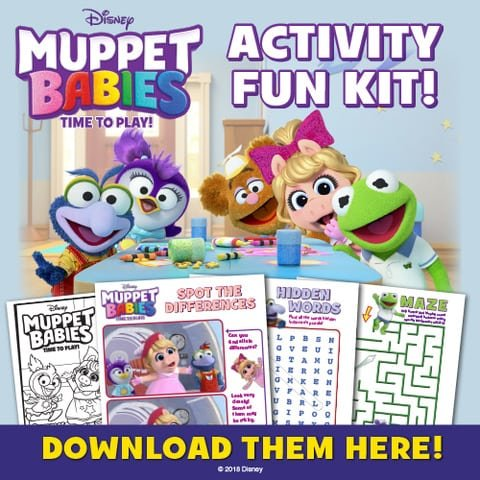 Muppet Babies Printable Activity Sheets
