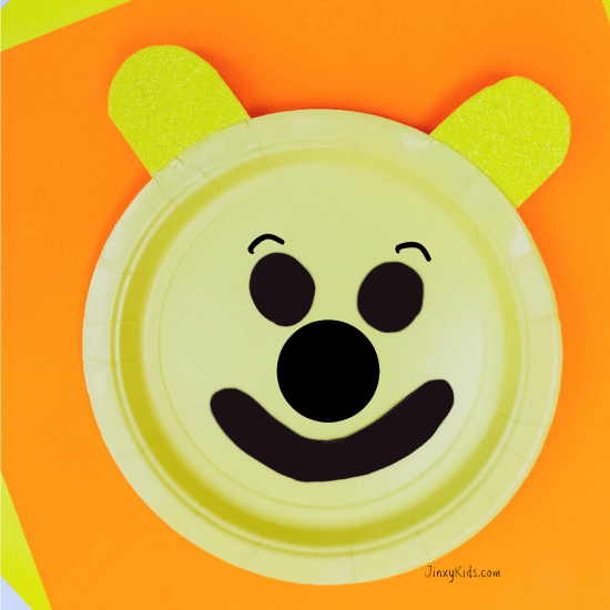Pooh Paper Plate Craft