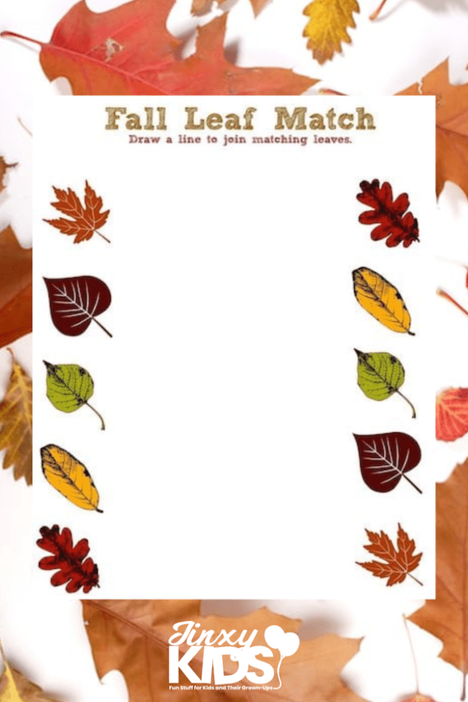 Fall Leaf Printable Activity Sheet