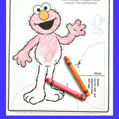 Printable ELMO Paper Doll