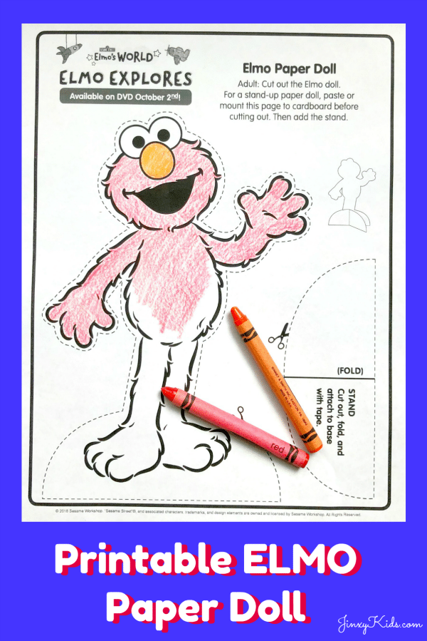 photograph about Printable Doll known as No cost Printable Elmo Paper Doll + Input in the direction of Earn Elmos Environment