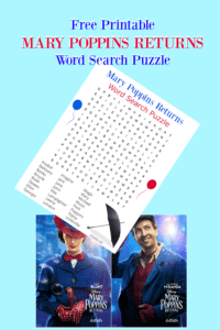 Mary Poppins Returns Word Search Puzzle