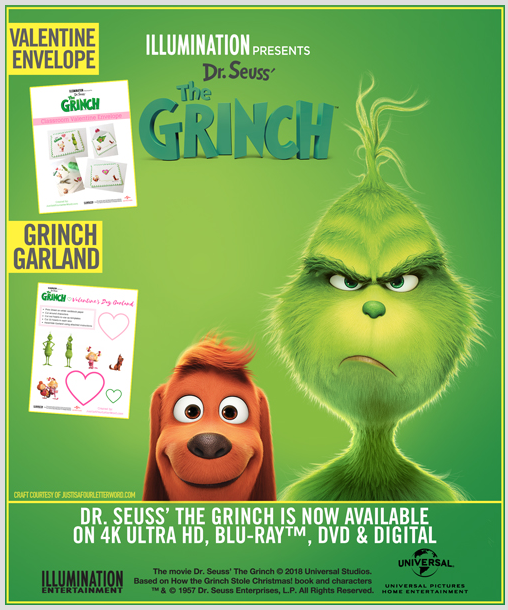 Grinch Valentine Crafts