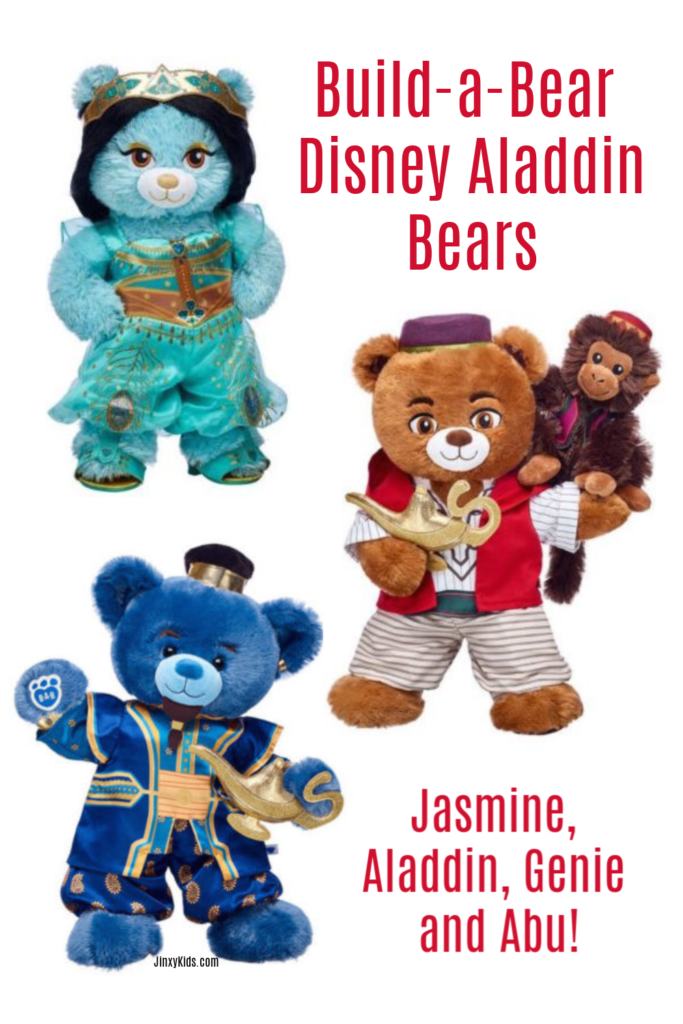 Build a Bear Disney Aladdin Bears