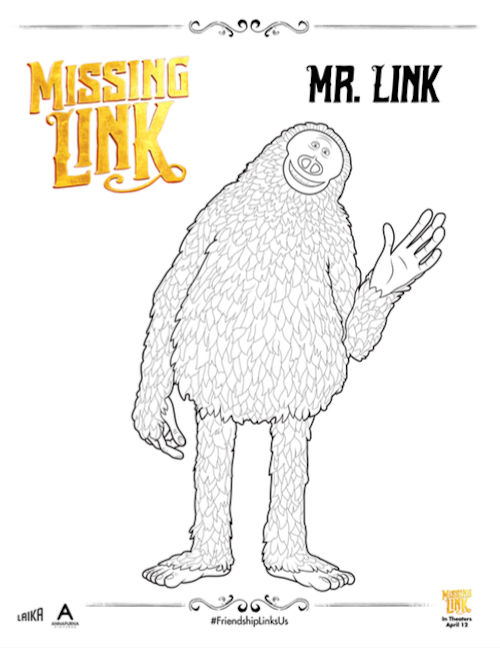Missing Link Coloring Page Susan
