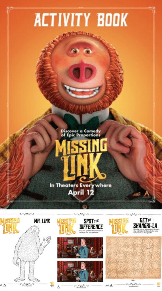 Missing Link Printable Activity Book
