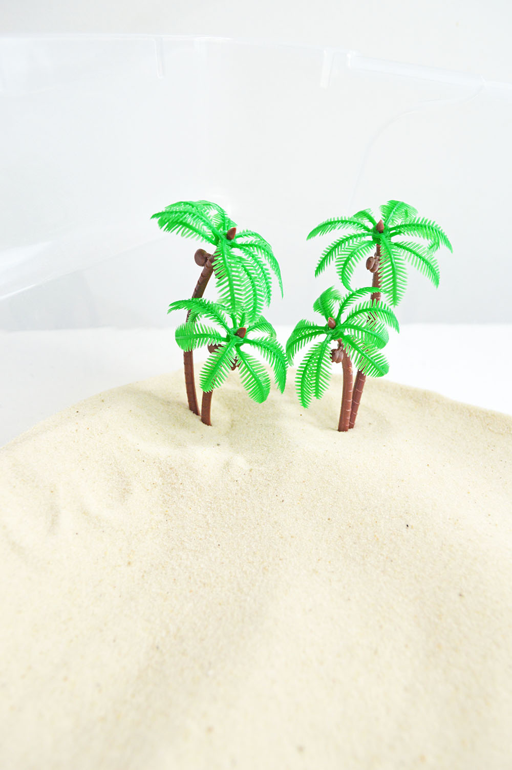 Artificial Palm Trees on Play Sand