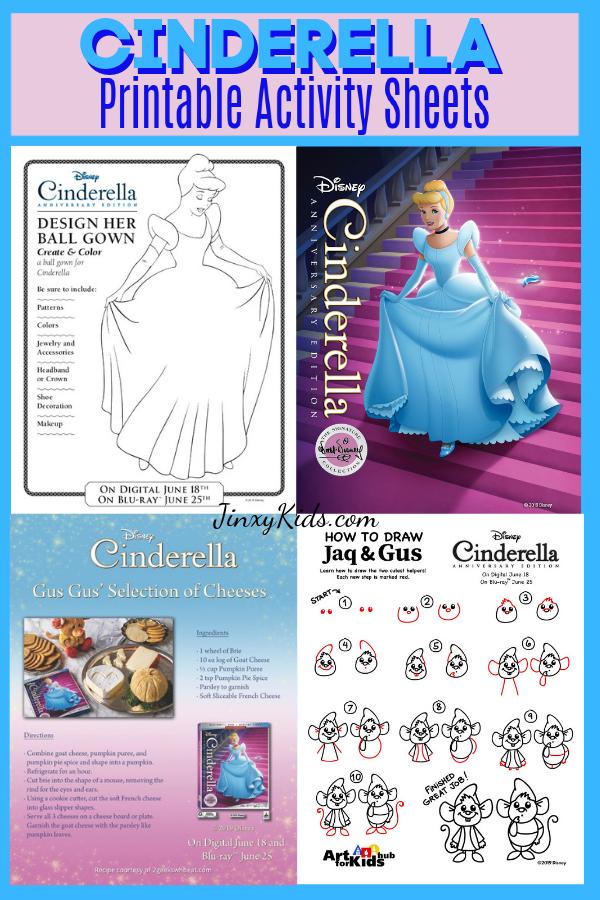 Cinderella Printable Activity Pages