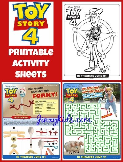 graphic about Printable Toy identified as Toy Tale 4 Printable Recreation Sheets - Jinxy Children