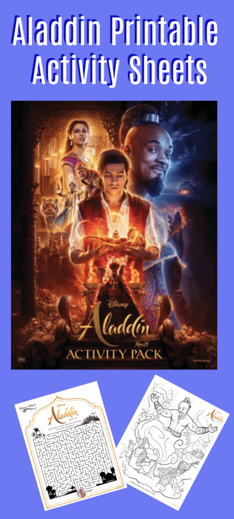 Aladdin Printable Activity Sheets