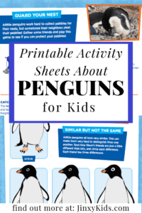 Printable Penguin Activity Sheets