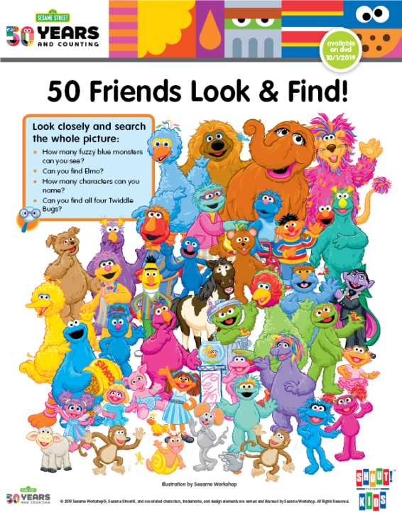 Sesame Street Printable Activity Sheet
