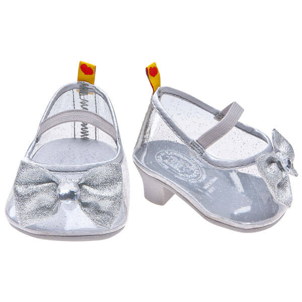 Build a Bear Silver Sparkle Heels