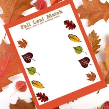 Fall Leaf Match Printable