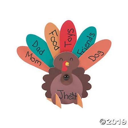 Thanksgiving Turkey Place Card Kit