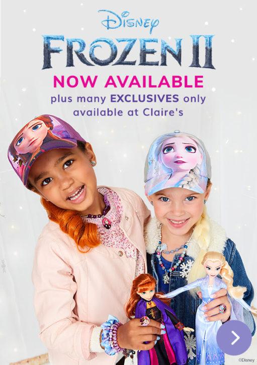 Girls Frozen 2 pack of 6 hair clips