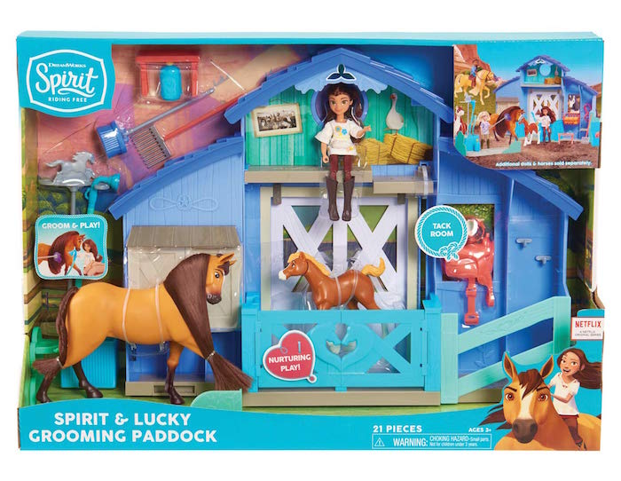 DreamWorks Spirit Riding Free Spirit & Lucky Grooming Paddock