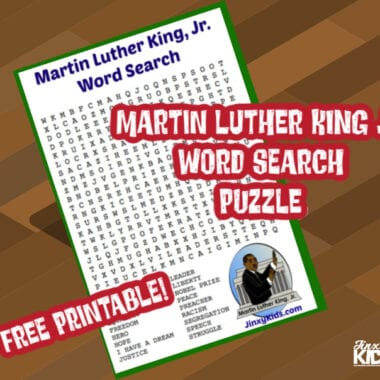 Free Printable Martin Luther King Jr Word Search Puzzle