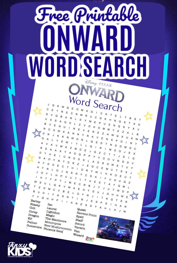 Free Printable Onward Word Search Puzzle