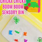 Chicka Chicka Boom Boom Sensory Bin