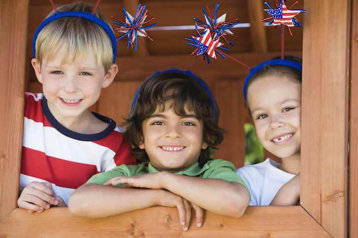 Children Dressed for 4th of July