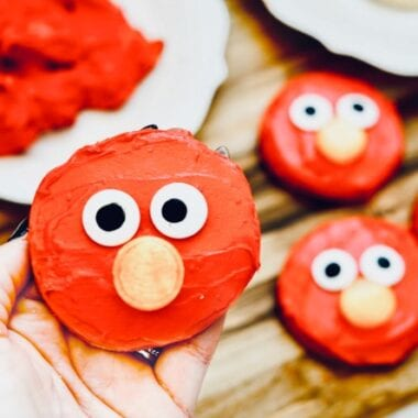 Fun & Easy Elmo Cookies process