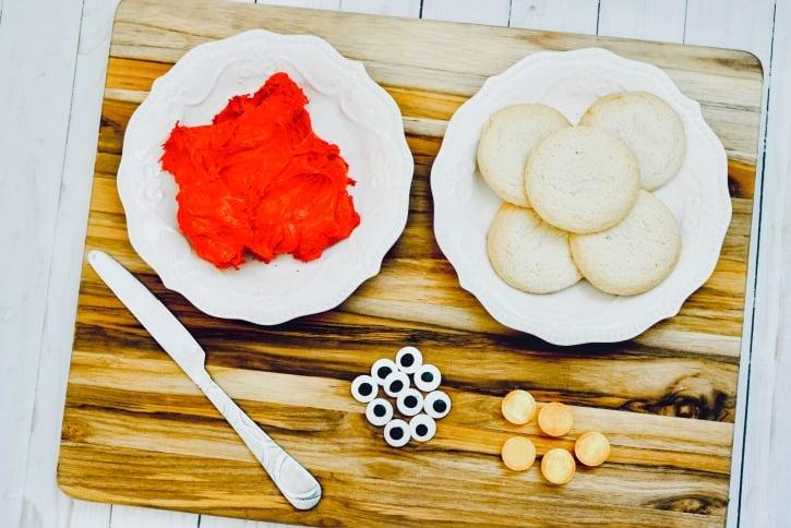 Fun & Easy Elmo Cookies supplies needed