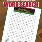 Free Printable Juneteench Word Search