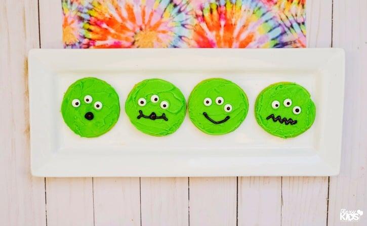 Super Cute Toy Story Alien Cookies Tutorial