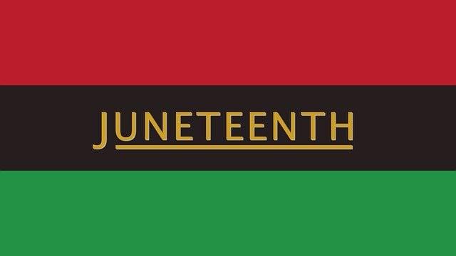 JUNETEENTH ON FLAG
