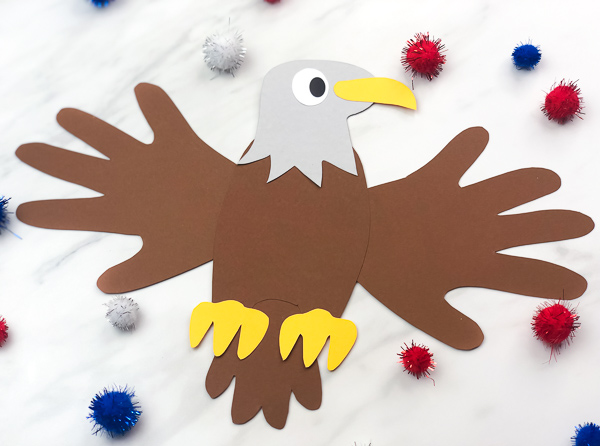 Patriotic Handprint Eagle Craft