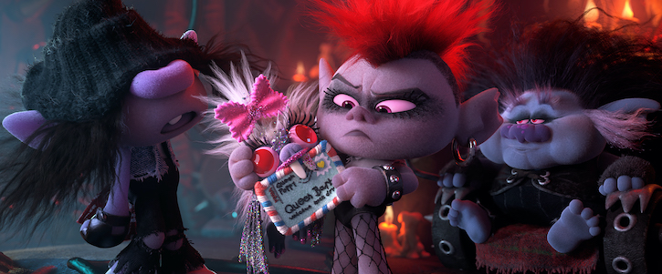 Barb (Rachel Bloom) and King Thrash (Ozzy Osbourne)