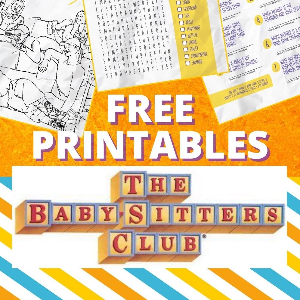The Baby Sitters Club Free Printable Puzzle Trivia And Coloring Sheet Jinxy Kids