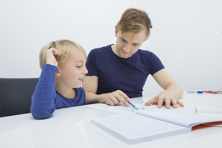 Father and Son Homeschooling