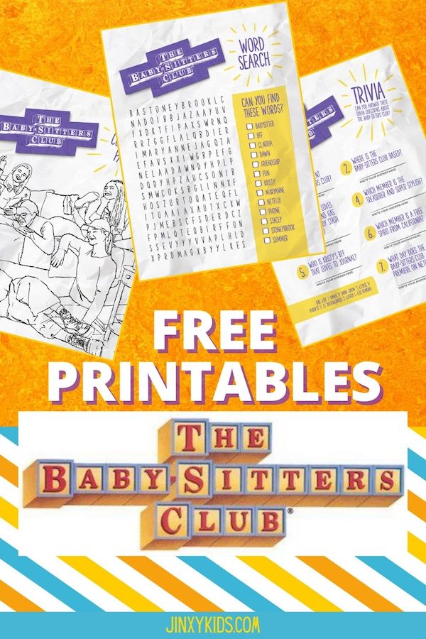 THE BABYSITTERS CLUB PRINTABLES