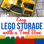 lego storage with a tool box