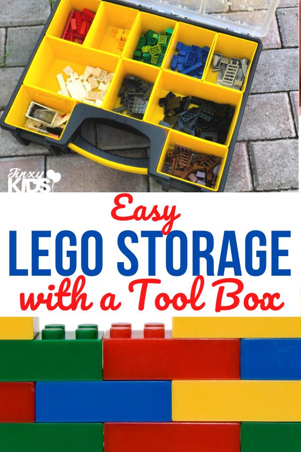 lego storage with a tool box